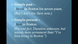 Present Perfect, Verb Tenses Comparison, English Grammar Lesson 6e