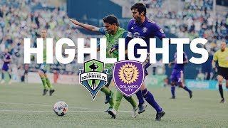 Seattle Sounders FC draw 1-1 with Orlando City SC at CenturyLink Field. Goals scored by Will Bruin (19'), Scott Sutter (90+4').