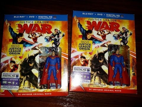 JUSTICE LEAGUE WAR BLU-RAY (PACK ECLUSIVE FIGURE) REVIEW