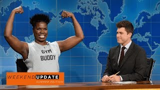 Colin Jost and Michael Che tackle the week's news, including people marrying their Real Dolls and the Kennedy Center honoring LL Cool J. Leslie Jones stops by to talk about how hard it is to get in shape for summer and her issues with the people at her gym.Get more SNL: http://www.nbc.com/saturday-night-liveFull Episodes: http://www.nbc.com/saturday-night-liv...Like SNL: https://www.facebook.com/snlFollow SNL: https://twitter.com/nbcsnlSNL Tumblr: http://nbcsnl.tumblr.com/SNL Instagram: http://instagram.com/nbcsnl SNL Pinterest: http://www.pinterest.com/nbcsnl/