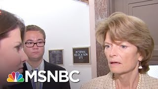 Sen. Lisa Murkowski responds to President Donald Trump criticitism on Twitter after she voted against GOP-led efforts to...