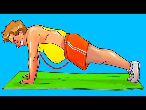 Dietas para adelgazar - 10 Ejercicios en casa para deshacerse de la grasa abdominal en un mes