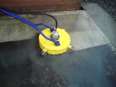 "Concrete Cleaning with Flat Surface Cleaner - 18"" Whirl-A-Way... Watch ..."