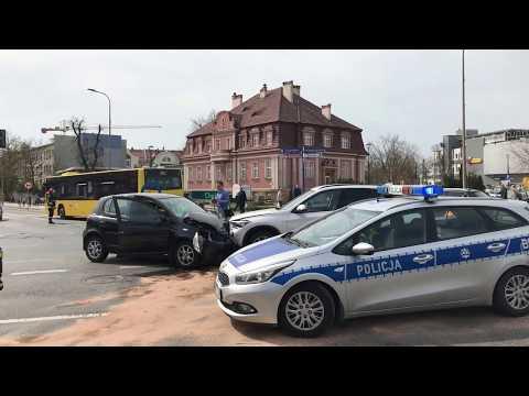 Wideo: Kolizja w centrum Lubina
