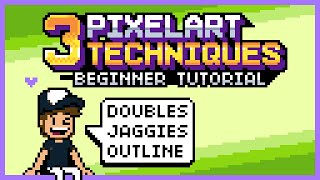 Video 3 PixelArt Techniques/Common Mistakes (Doubles, Jaggies & Outline) (Tutorial for Beginners) MP3, 3GP, MP4, WEBM, AVI, FLV Februari 2019