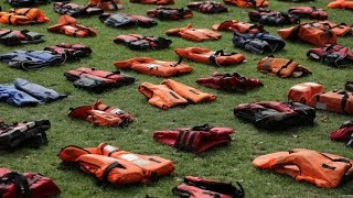 Parliament Square is filled with life jackets to represent the migrant crisis.SUBSCRIBE for more at http://bit.ly/1qC9RqVFollow us on Twitter at https://twitter.com/Daily_E... Follow us on Facebook at https://www.facebook.com/Da...Check out the Express website at http://www.express.co.uk/