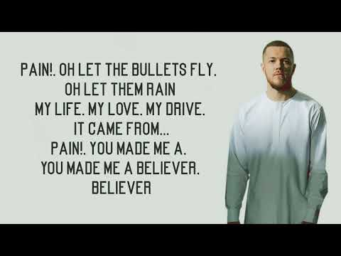 Video Believer - Imagine Dragons (Lyrics) download in MP3, 3GP, MP4, WEBM, AVI, FLV January 2017