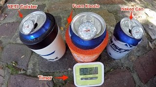 "YETI Rambler Colster ""99-Minute"" Cold Beer Koozie Challenge"