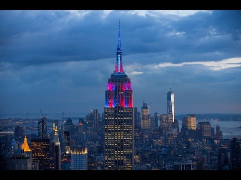 The Empire State Building Is Lit Up In FC Barcelona Colours