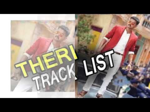Theri Track List Exclusive | Vijay | Samantha |  Amy Jackson | G.V. Prakash