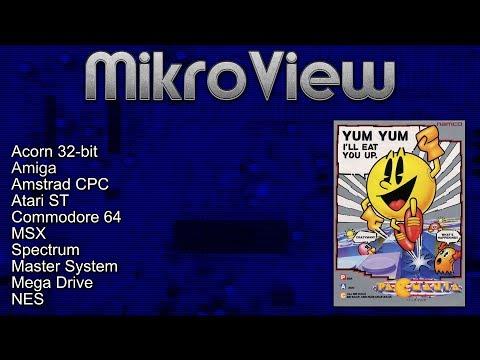 Mikroview #110: Pac-Mania on Acorn 32-bit, Amiga, ST, C64, CPC, MSX, Spectrum, NES, SMS, MD