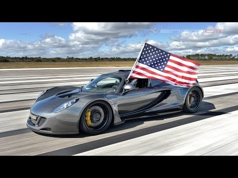 Hennessey Venom GT Sports Car Breaks Fastest Speed