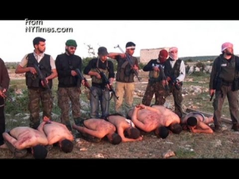 Graphic video: Rebels execute Syrian soldiers
