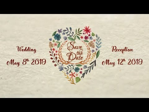 Floral Wedding Invitation Video | Save The Date 2019 | Step-In Studios Presentation SS3