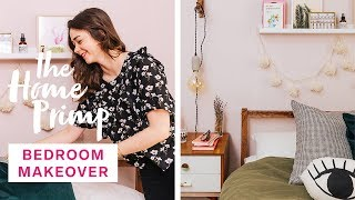 Gorgeous Bedroom Makeover On A Budget | Small Bedroom Design Ideas | The Home Primp