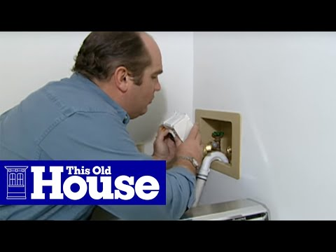 How to Install an Automatic Washing Machine Shutoff Valve - This Old House