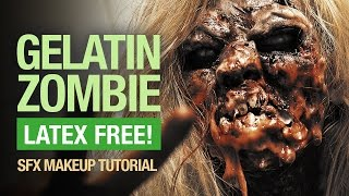 Easy Halloween zombie makeup tutorial (latex free) - YouTube