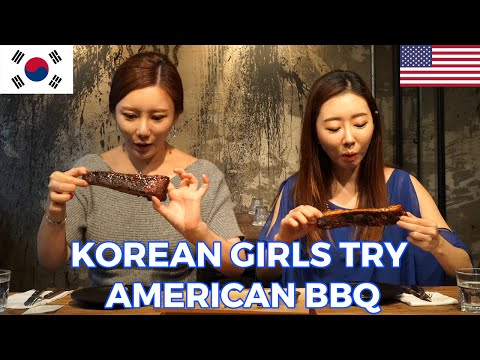 Korean Girls React to Trying American BBQ for the First