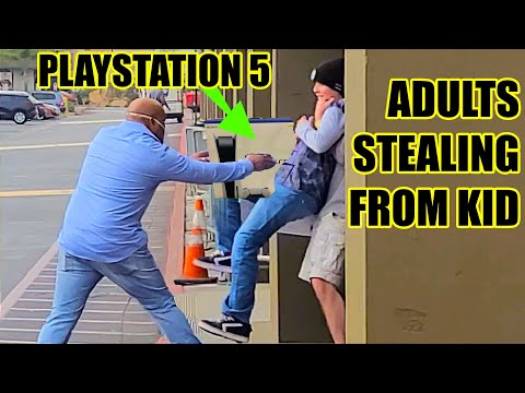 Will Adults Steal PlayStation 5 From Child? To Catch A Thief   American Justice Warriors