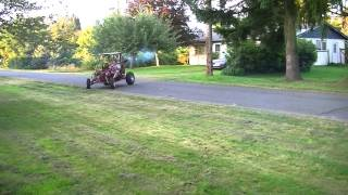 The first real test drive of the hot rod go kart. It works