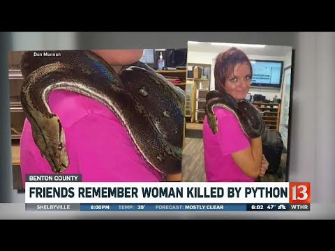 Woman killed by python