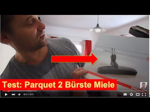 Test Miele Parkett Bodenbürste SBB Parquet-2 auf Miele Staubsauger