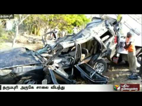 Seven-dead-as-lorry-collides-with-car-in-Dharmapuri