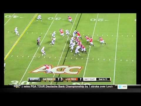 Jeremiah Attaochu vs Virginia Tech 2012 video.