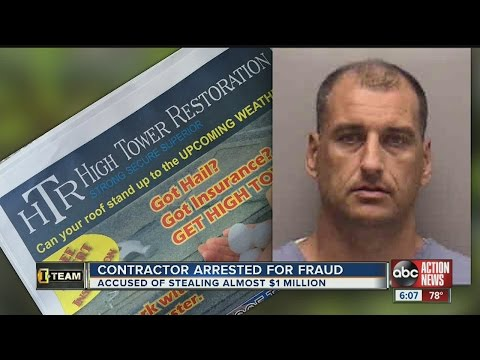 Roofing contractor arrested for fraud