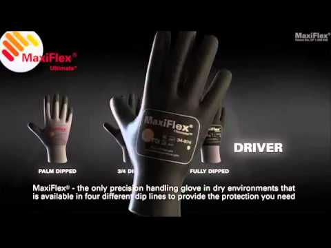 Precision Handling Gloves | MaxiFlex Ultimate  Video Image