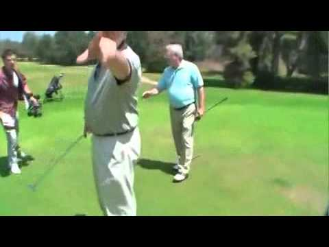 golf course prank. He's teaching a lesson in ?Behavior on golf courses? ...