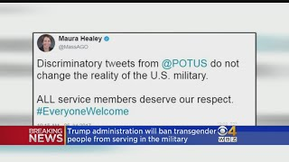 Attorney General Maura Healey and Rep. Joe Kennedy III are among some Bay State officials speaking out against the president's decision.