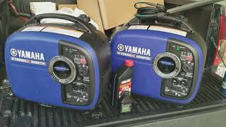 9. twin Yamaha 2000v2 inverter gens running