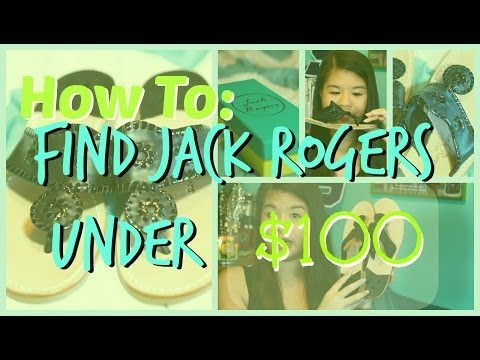 how to find jack - Helllooo, Here are several ways to get Jack Rogers under $100!!!! 3 websites and tips and tricksss!! Amazon 20% subscription website: http://www.amazon.com/b...