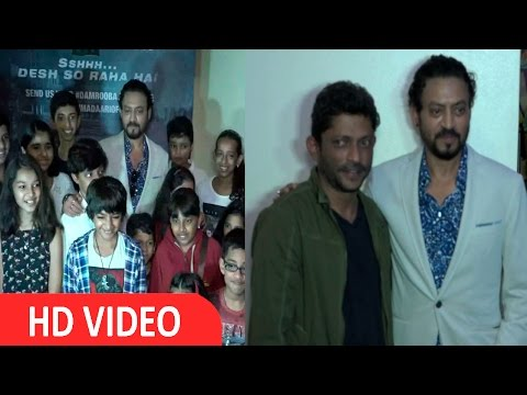 Irrfan Khan At Special Screening Of Madaari Hosted For Children