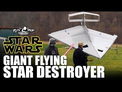 超過15英尺長的《星際大戰》滅星者戰艦 遙控飛機!