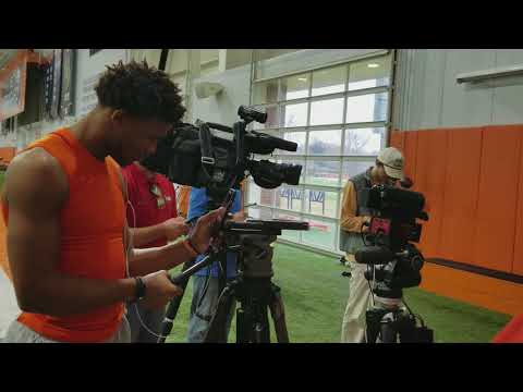Kelly Bryant clowns around with Ray Ray McCloud at interview