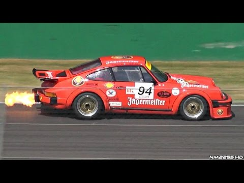1976 Porsche 934 Turbo RSR Sound - Warm Up, Accelerations & HUGE Flames!!