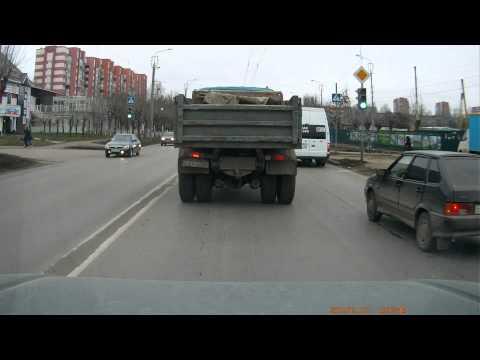 В Новосибирске задержали перегруженный МАЗ