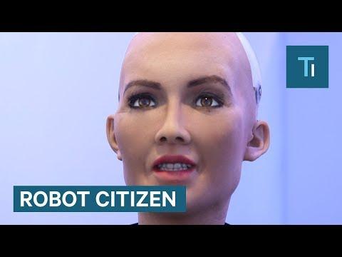 Sophia Der Humanoide Roboter wurde gerade zu einem'Roboter-Bürger'.
