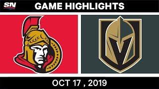NHL Highlights | Senators vs Golden Knights – Oct 17 2019 by Sportsnet Canada