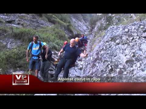 Alpinist căzut în râpă
