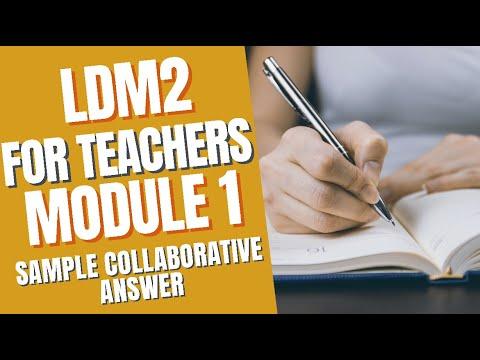 LDM2 Module 1 - COLLABORATIVE ANSWERS