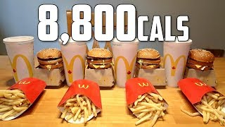 Video Impossible McDonald's Big Mac Meal Challenge (8,800 Calories) MP3, 3GP, MP4, WEBM, AVI, FLV Juli 2018