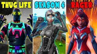 THUG LIFE vs SEASON 4 vs RAGER in Fortnite Battle Royale