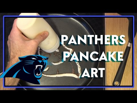 Carolina Panthers and Denver Broncos Pancake Art