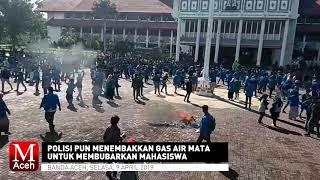 Demo Mahasiswa Terkait PT. EMM Berakhir Ricuh, Polisi Tembakkan Gas Air Mata