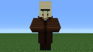 Minecraft Tutorial: How To Make A Villager Statue