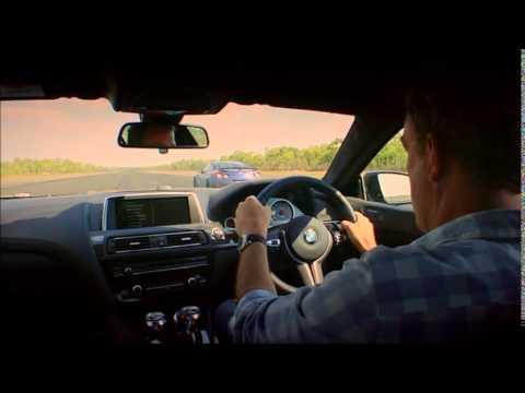 BMW M6 Grand Coupe vs Nissan GTR vs Bentley GT TopGear Drag Race (видео)