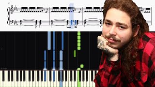 Post Malone - Psycho (feat. Ty Dolla $ign) - Piano Tutorial